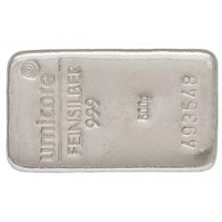 500 Gramm Silberbarren gegossen