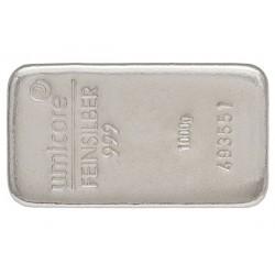 1000 Gramm Silberbarren gegossen