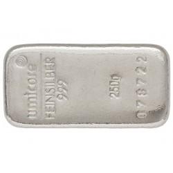 250 Gramm Silberbarren gegossen